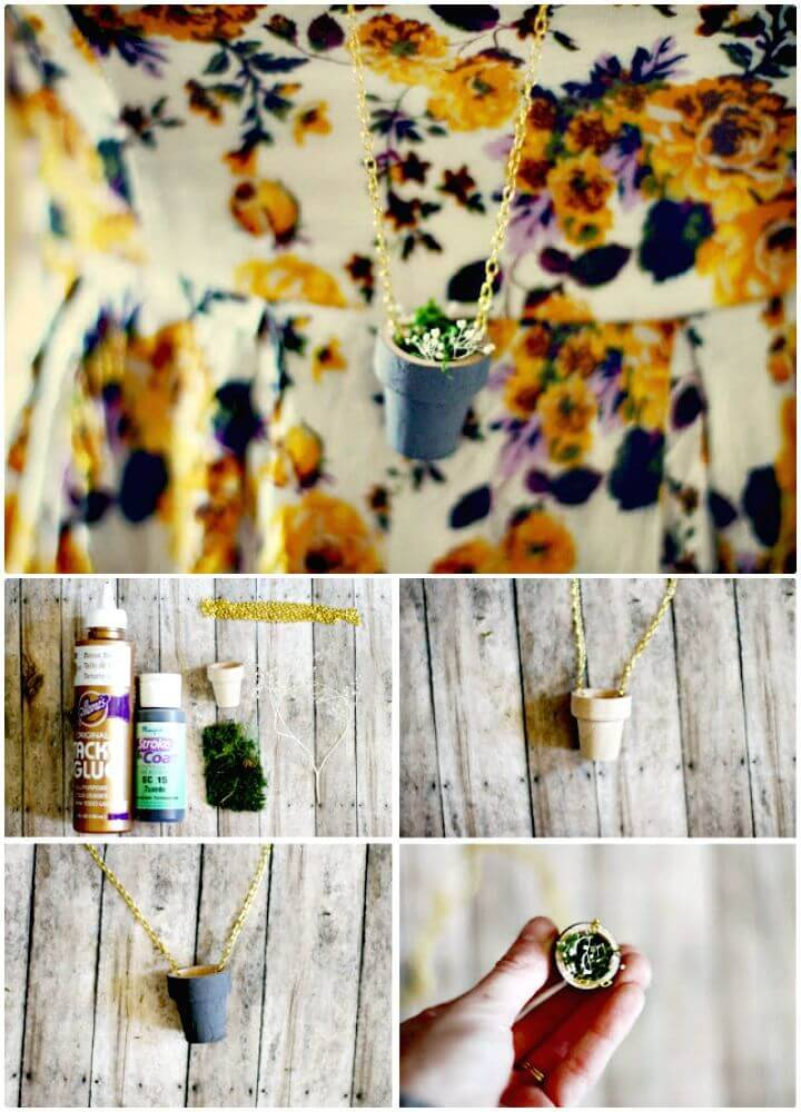 Cute DIY Planting Pot Necklace - Mothers Day Gifts