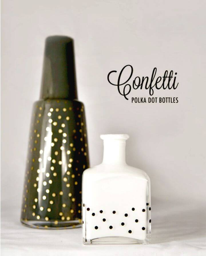 Easy to DIY Polka Dot Bottles