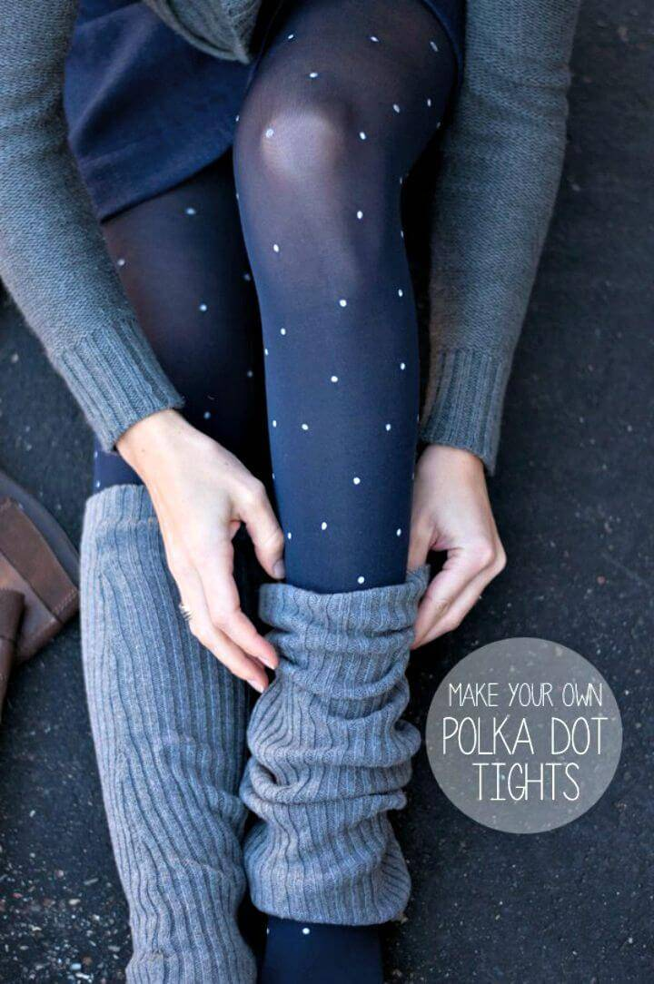 Cute DIY Polka Dot Tights