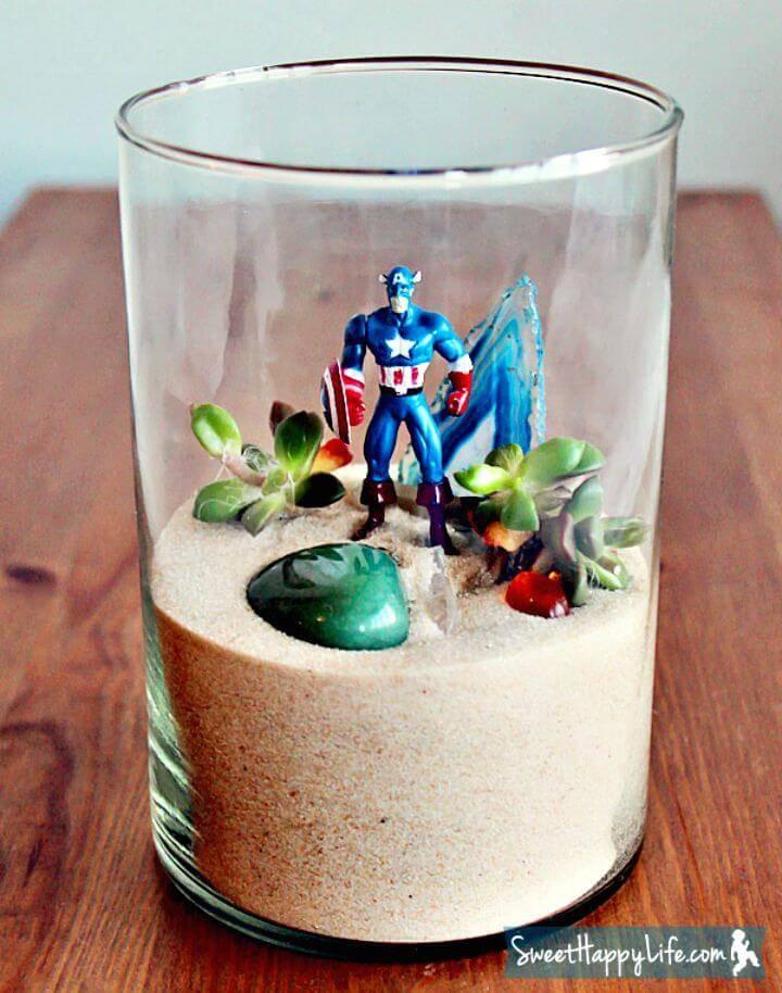 Gorgeous DIY Superhero Terrarium
