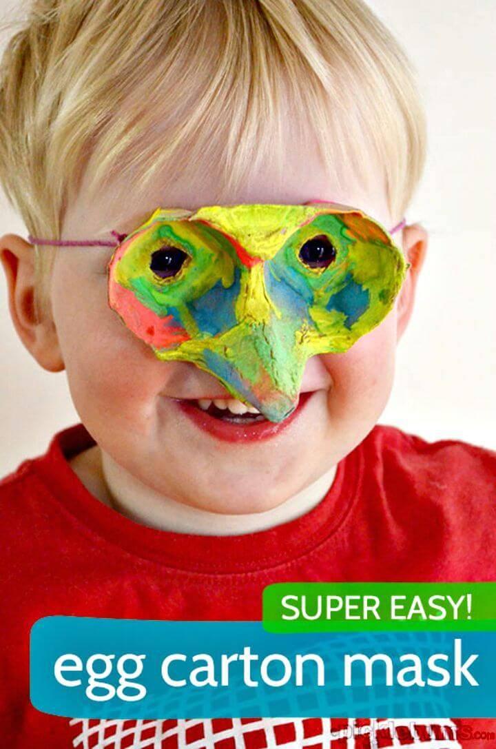 Cute DIY an Egg Carton Mask