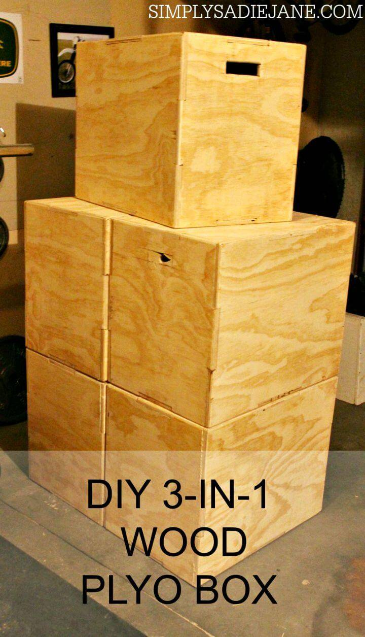 DIY 3 In 1 Wood Plyo Box For $35
