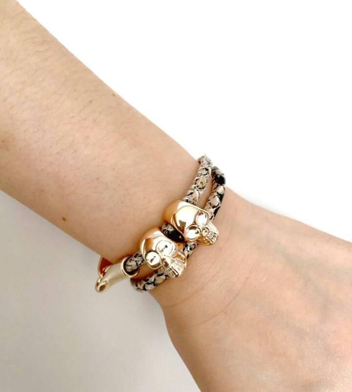 DIY Alexander McQueen Inspired Skull Bracelet