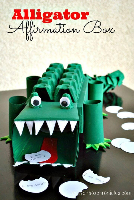 How to DIY Alligator Affirmation Box