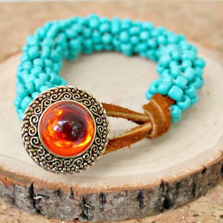 DIY Bohemian Goddess Turquoise Wrapped Bracelet