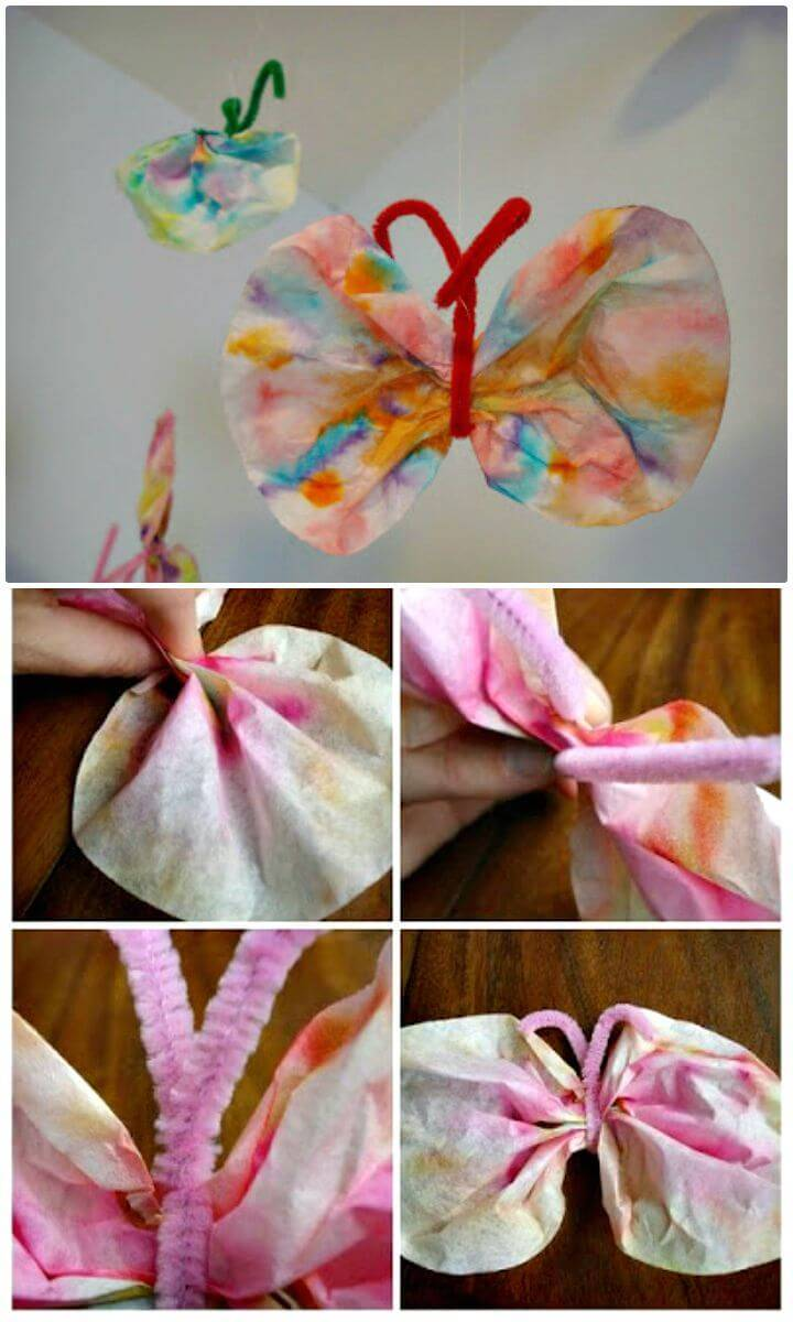 Simple DIY Coffee Filter Butterflies - Adorable Summer Craft
