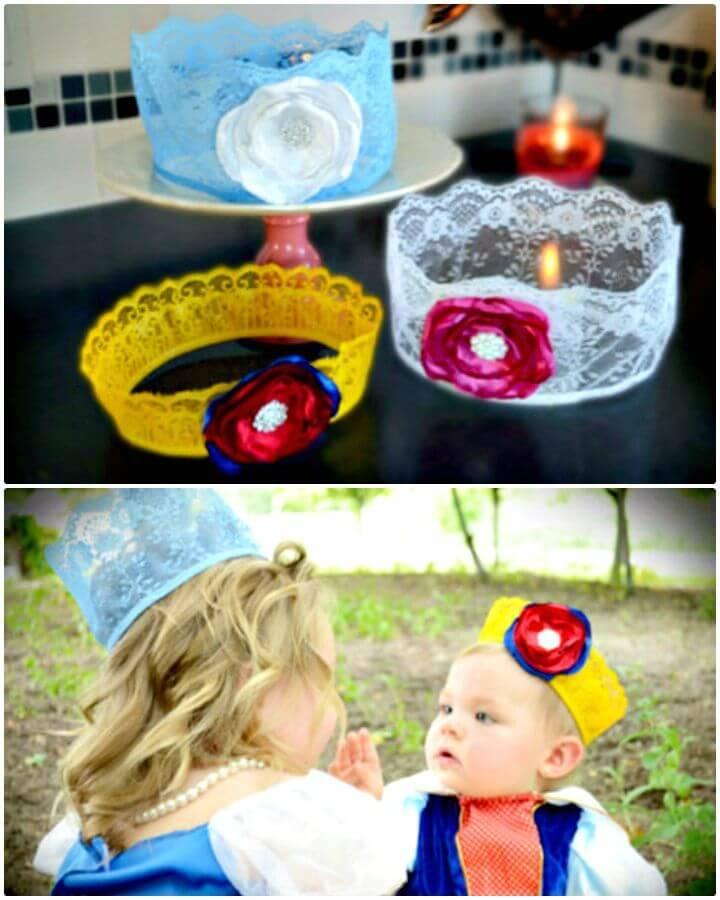 Adorable DIY Disney Princess Crowns
