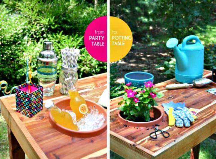 DIY Dual Purpose Party+Potting Table