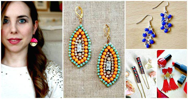 DIY Earrings – 101 DIY Earring Ideas To Try Your Hands At - DIY Fashion Ideas - DIY Jewelry Ideas - DIY Projects - DIY Crafts