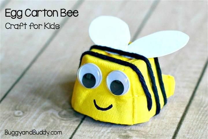 DIY Egg Carton Bee Craft for Kids