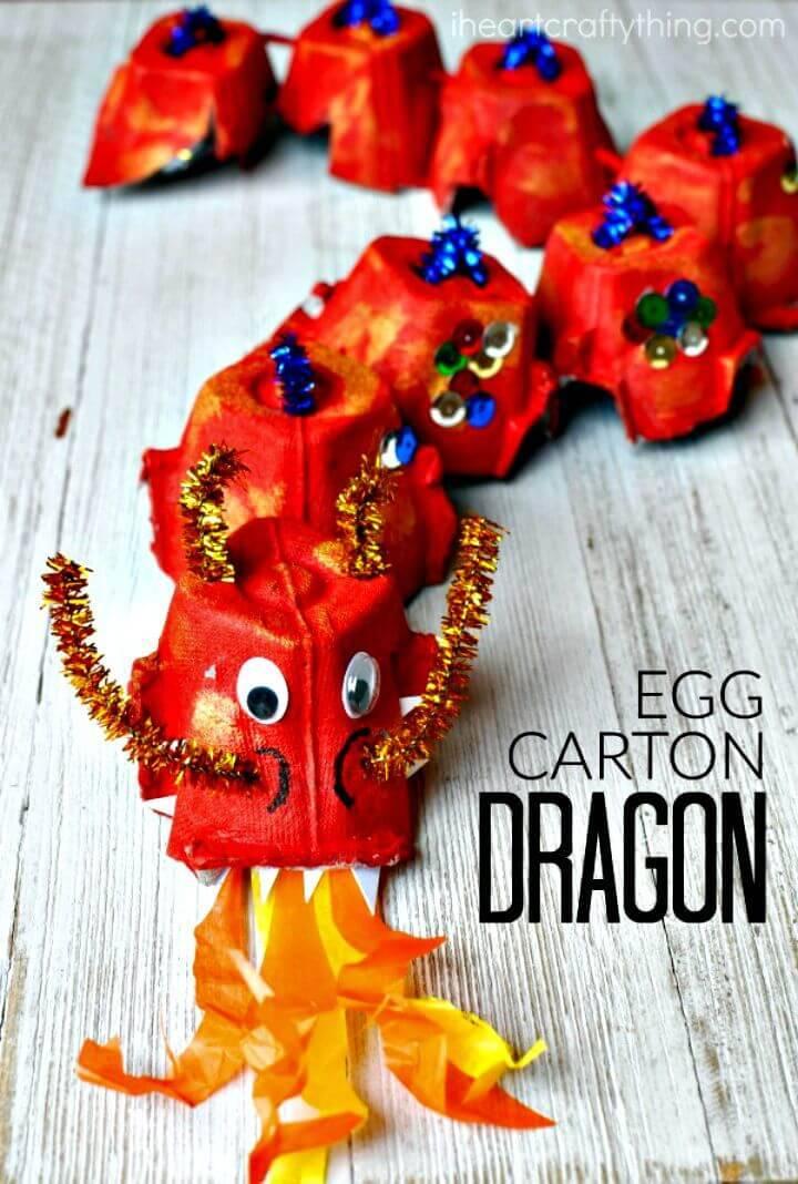 DIY Egg Carton Dragon Craft