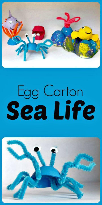 DIY Egg Carton Sea Life Recycled Craft