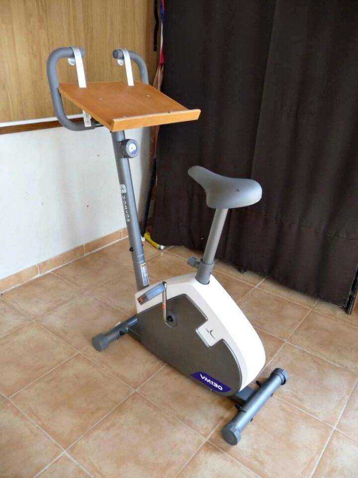 DIY Exercise Bike With Laptop Holder