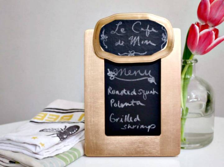 DIY Fancy Chalkboard Menu Board - Mothers Day Gifts