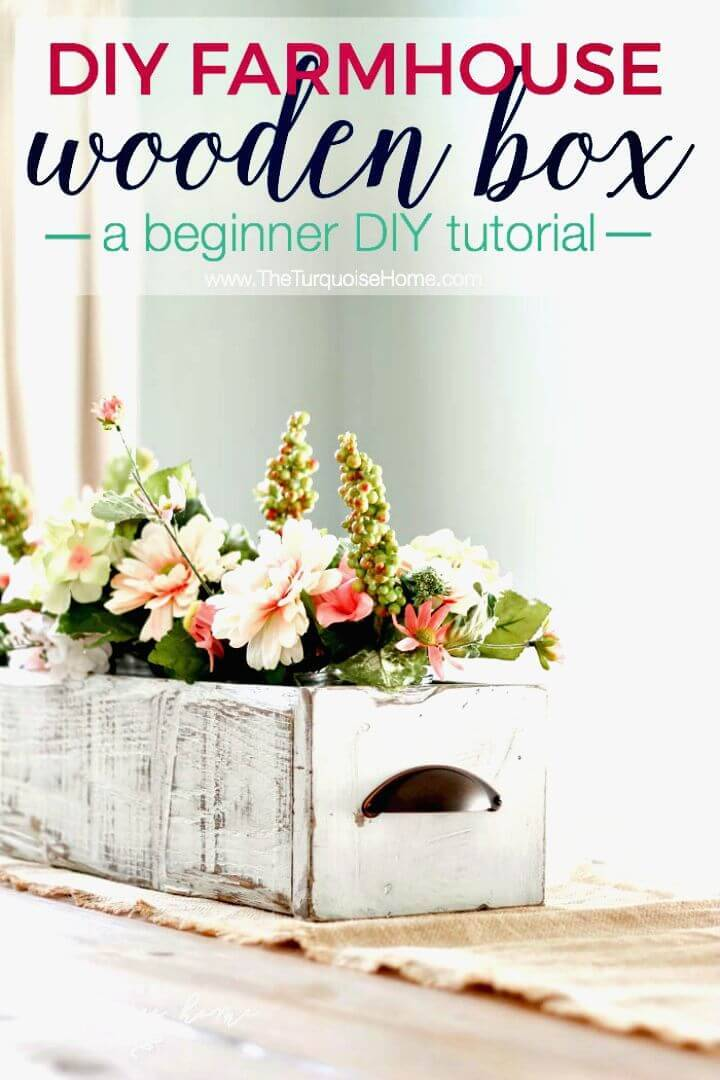 How to Make Farmhouse Wooden Box Centerpiece Tutorial