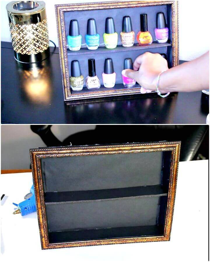 Quick DIY Fingernail Polish Display Stand
