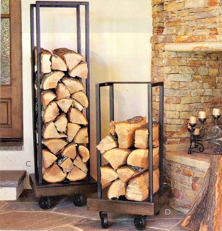 DIY firewood Holder From Plumbing Pipes