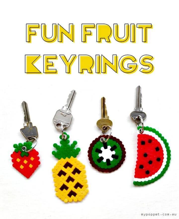 DIY Fun Fruit Keyrings - Gift Idea