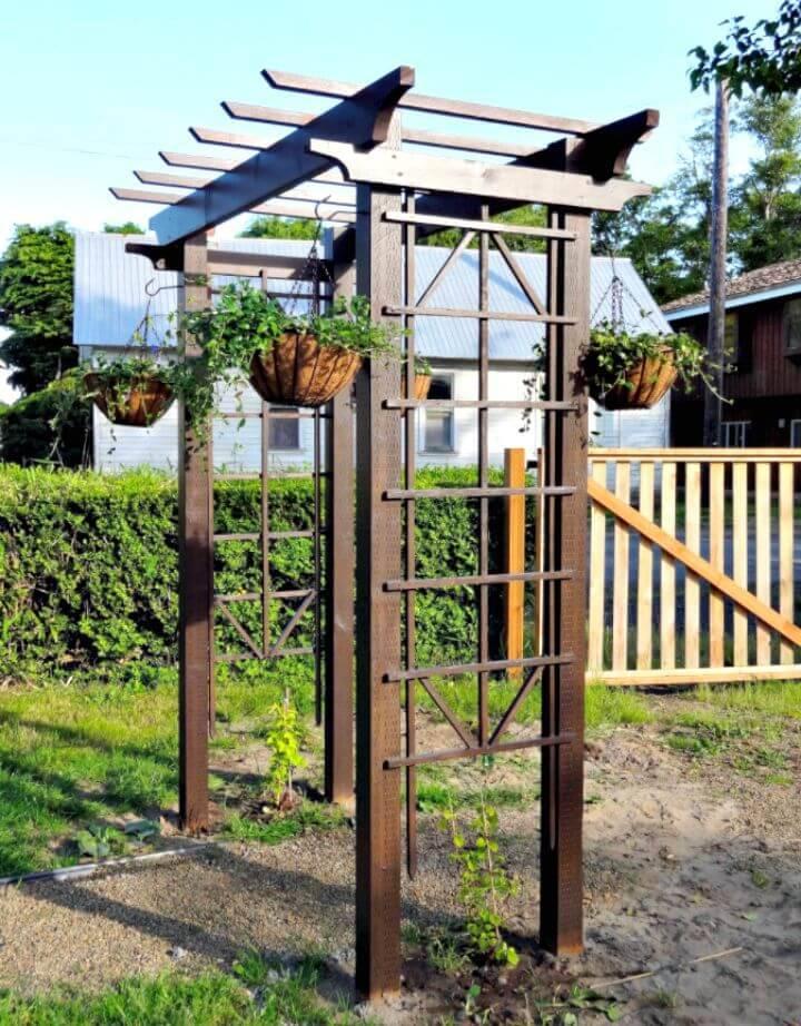 DIY Garden Arbor for $150 - Garden Decor