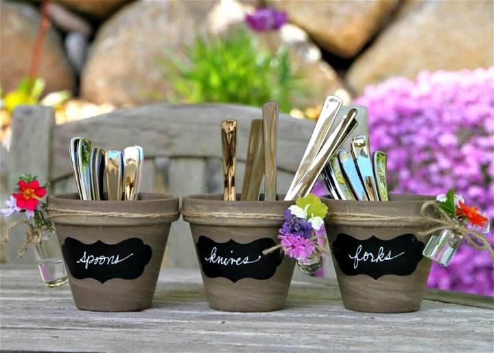 DIY Garden-Inspired Utensil Holders