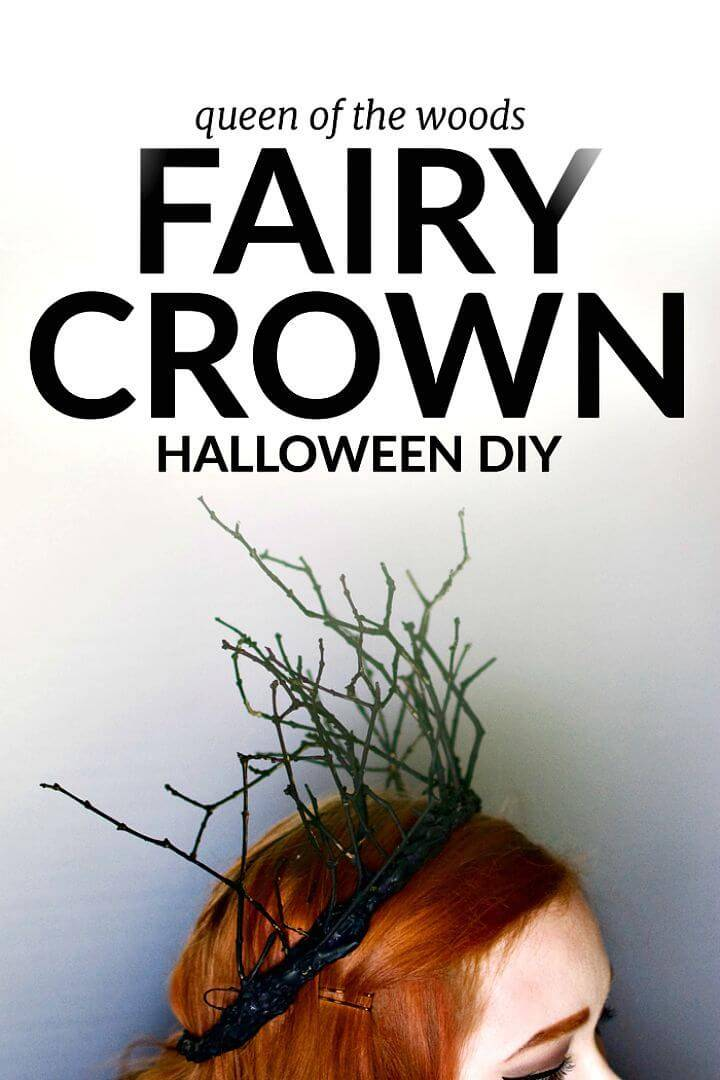 Simple DIY Halloween Fairy Crown