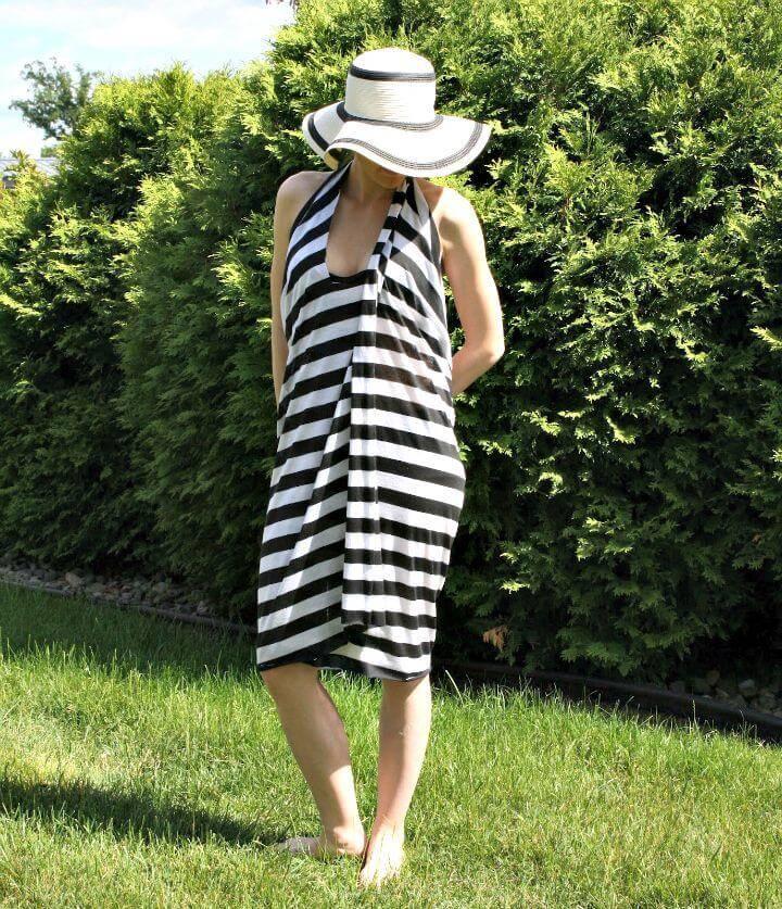 DIY Halter Wrap Swim Coverup for Summer