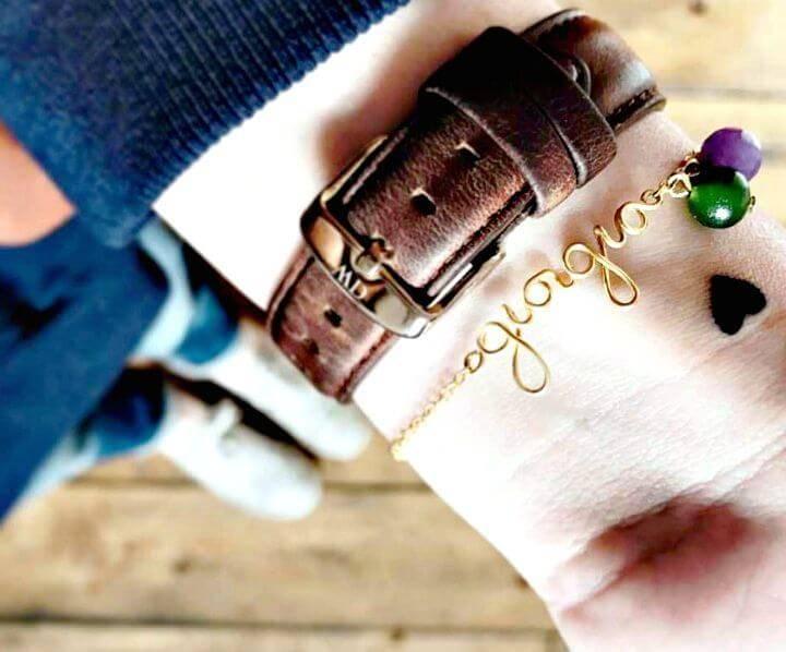 DIY Handmade Name Bracelet