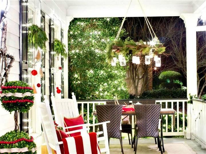 DIY Holiday-Inspired Mason Jar Chandelier