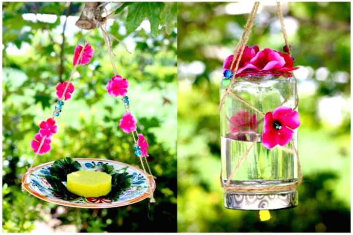 Beautiful DIY Homemade Butterfly Feeder