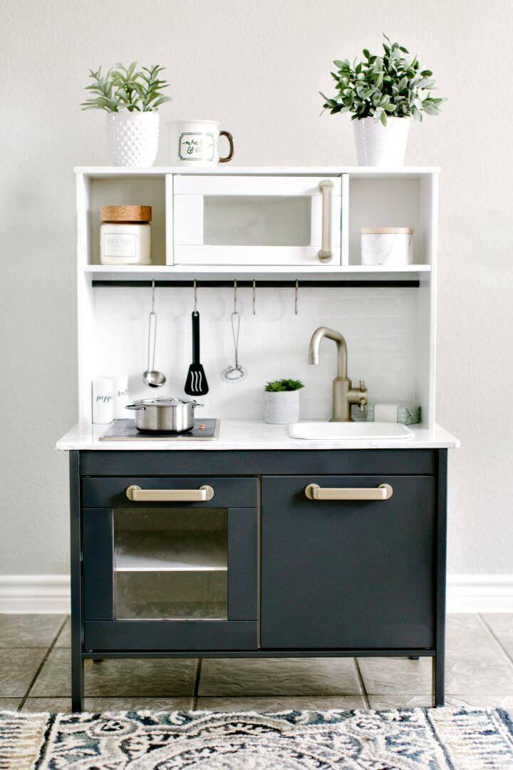 DIY Ikea Play Kitchen Makeover