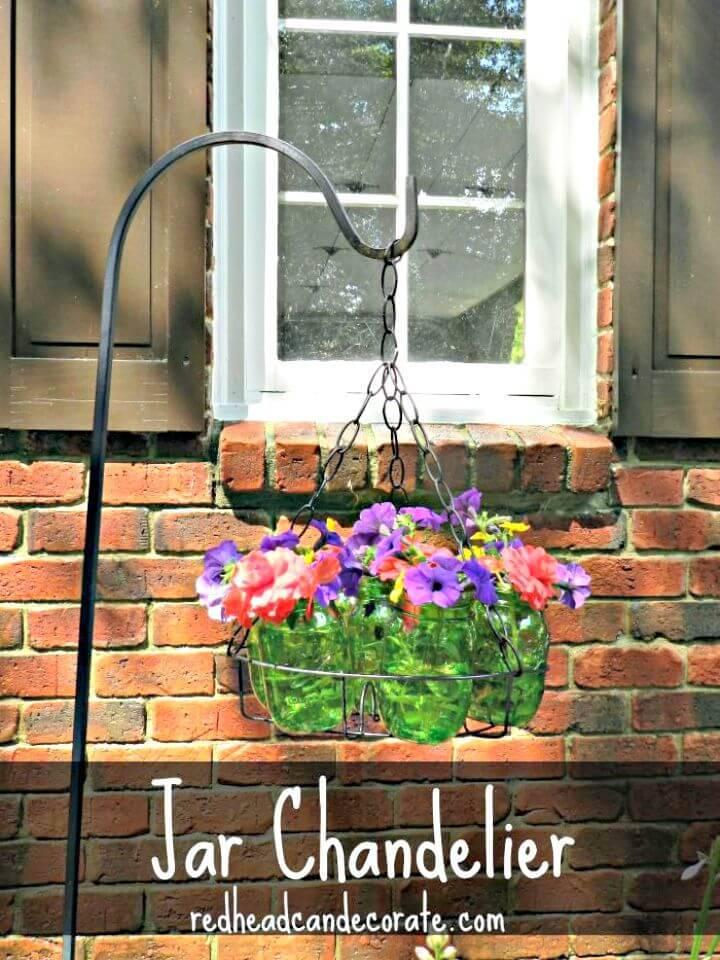 DIY Mason Jar Garden Chandelier