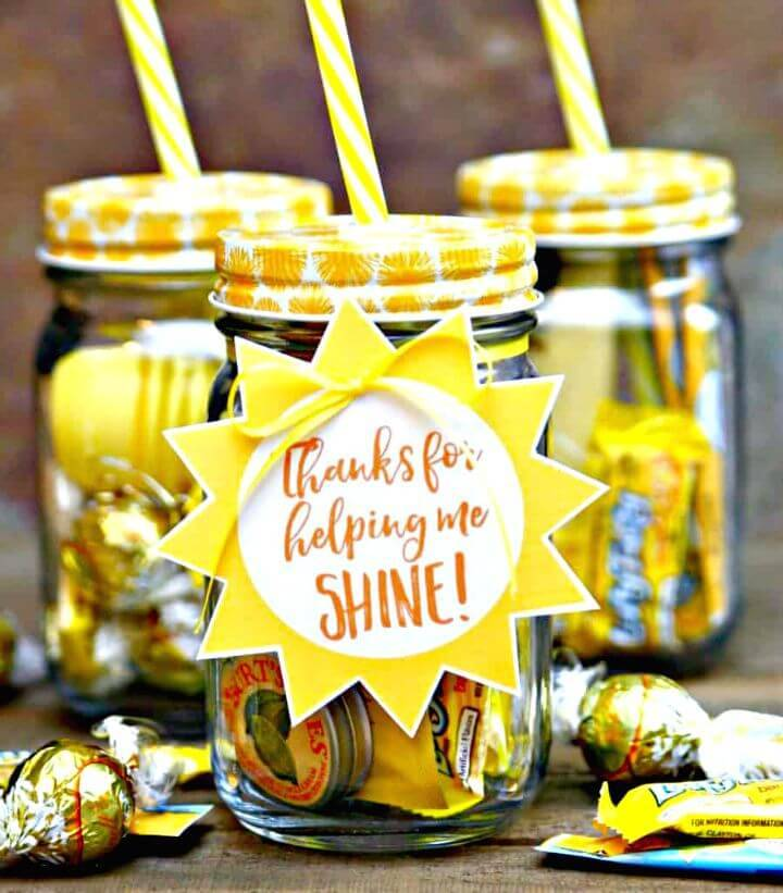 DIY Jar Of Sunshine - Teacher Gift