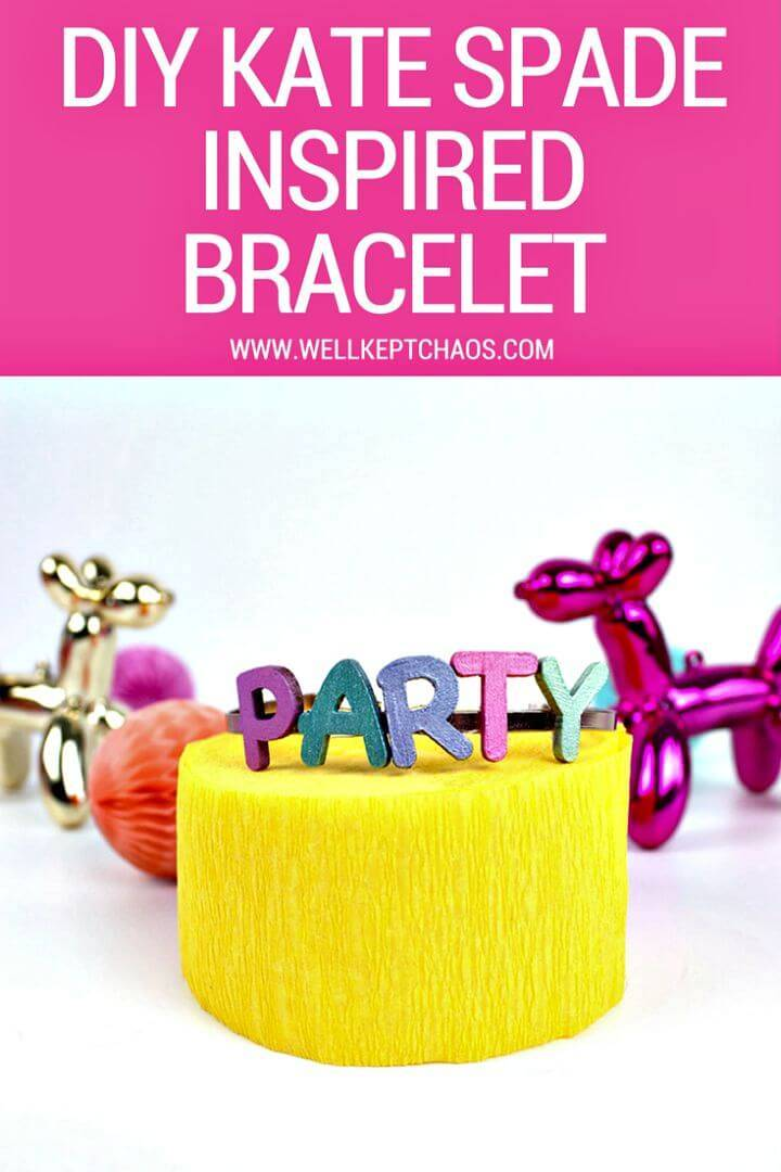 Easy DIY Kate Spade Inspired Balloon Bracelet