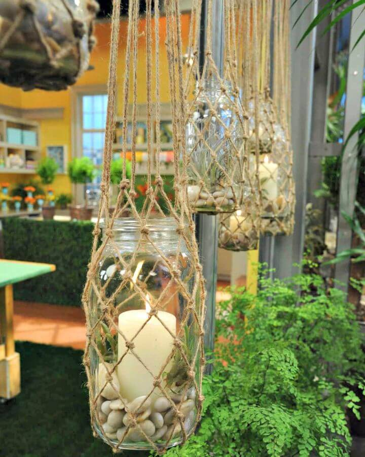 DIY Knotted Hanging Lanterns