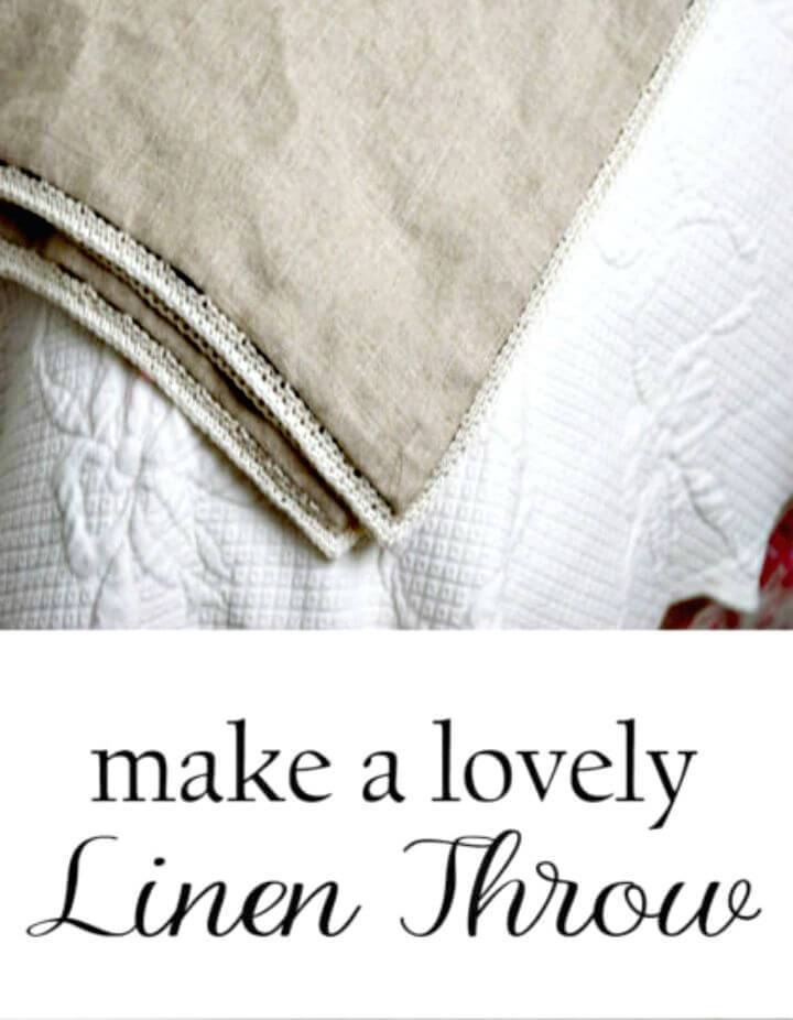 Easy DIY Linen Throw For Summer