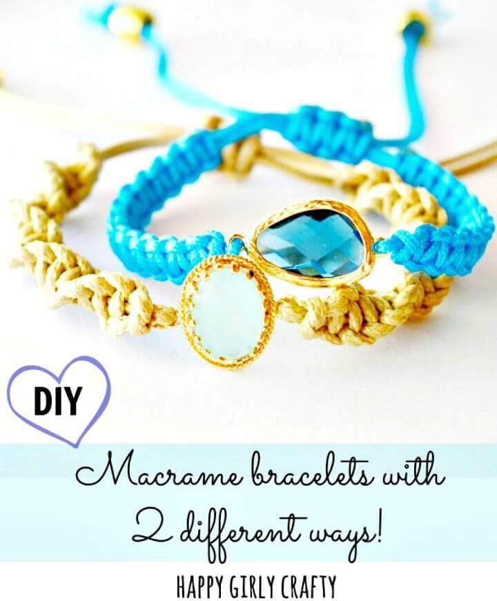 DIY Macrame Glass Connector Bracelet