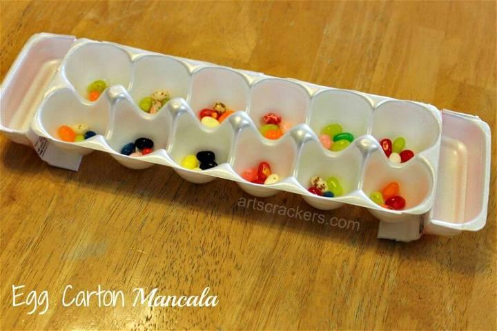 DIY Mancala Game Egg Carton Craft