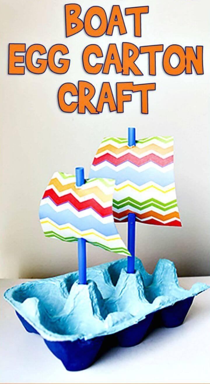 DIY Mayflower Boat Egg Carton Craft