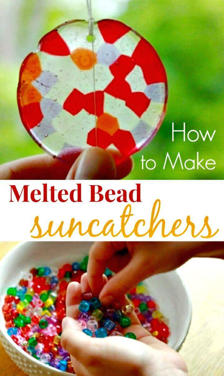 Gorgeous DIY Melted Bead Suncatchers