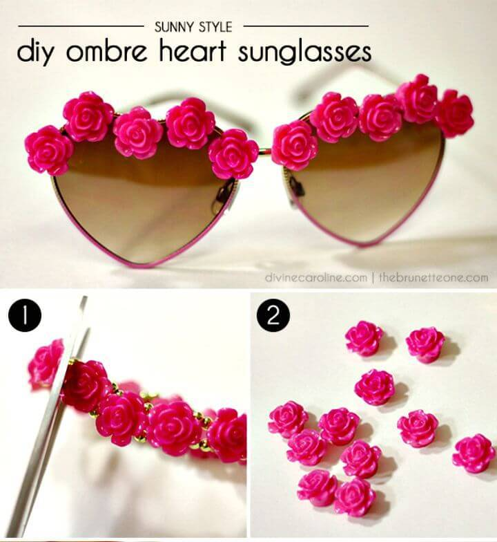 DIY Ombre Heart Glasses - Summer Fashion Ideas