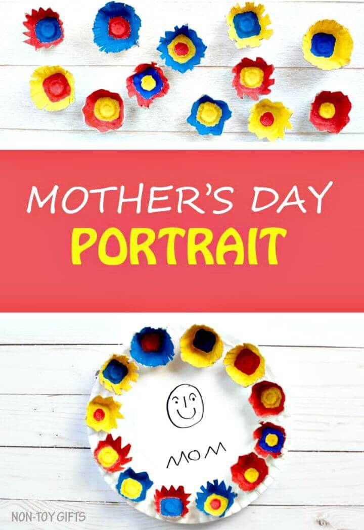 DIY Paper Plate Mother's Day Portrait