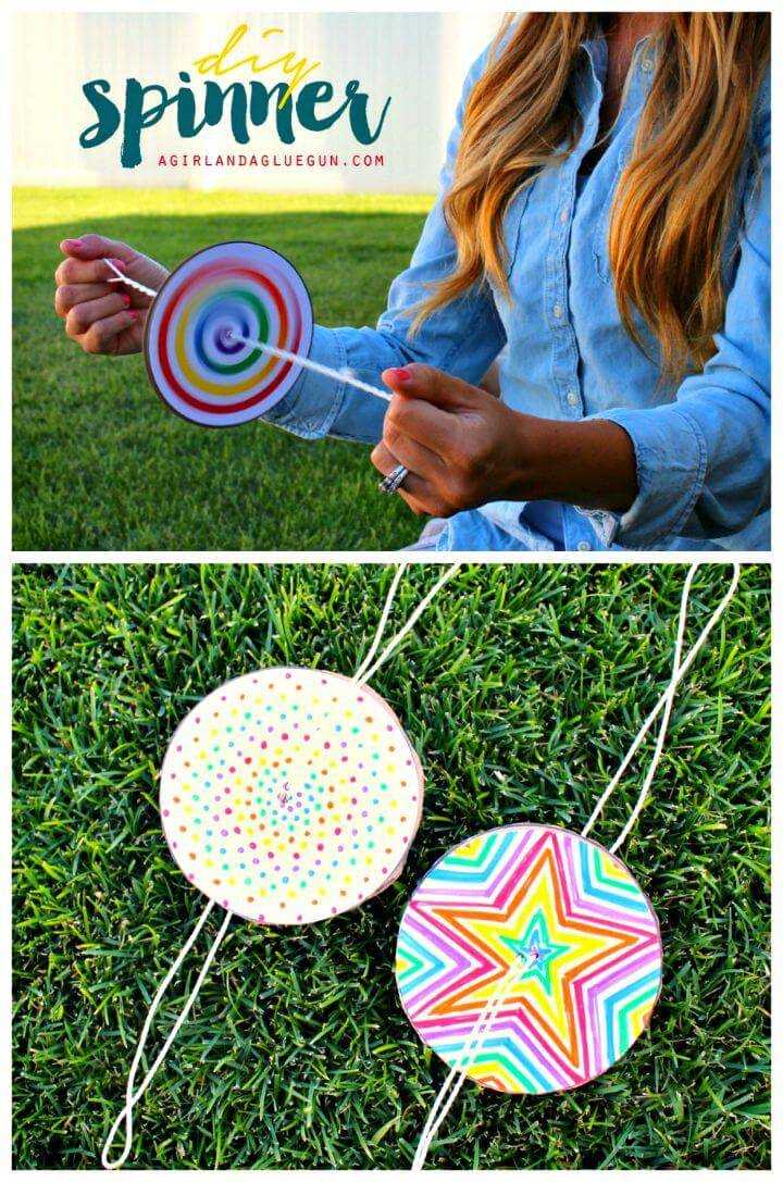 Adorable DIY Paper Spinner for Endless Fun