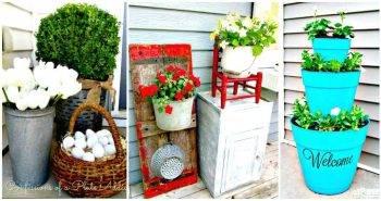 DIY Patio & Porch Decor Ideas - DIY Home Decor Ideas - DIY Crafts - DIY Projects - Easy Craft Ideas - Patio Decoration