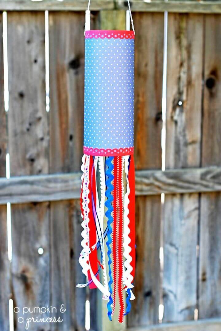 Easy DIY Patriotic Paper Windsock - Summer Activities for Kids