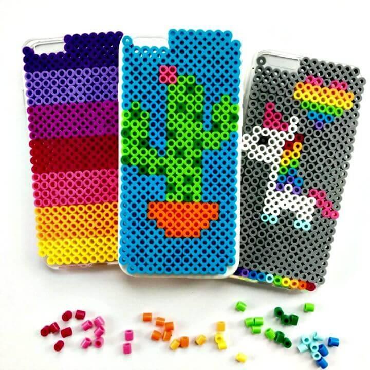 DIY Perler Bead iPhone Case Holder