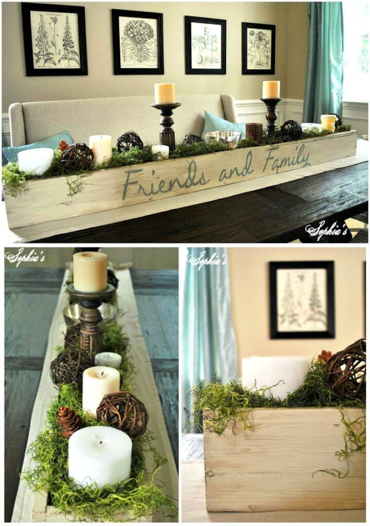 How to Build Planter Wooden Box Centerpiece