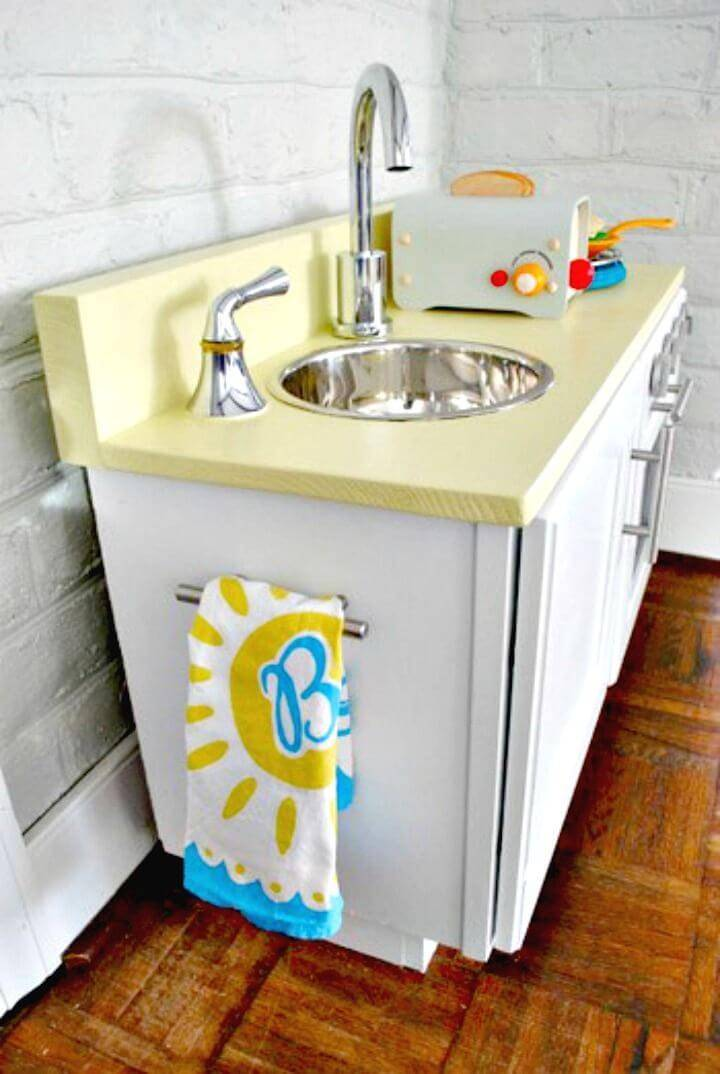 DIY Play Kitchen From A Cabinet