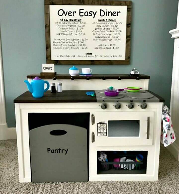 DIY Play Kitchen With Farmhouse Style