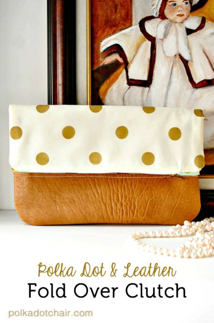 DIY Polka Dot Fold Over Clutch - Mother's Day Gift
