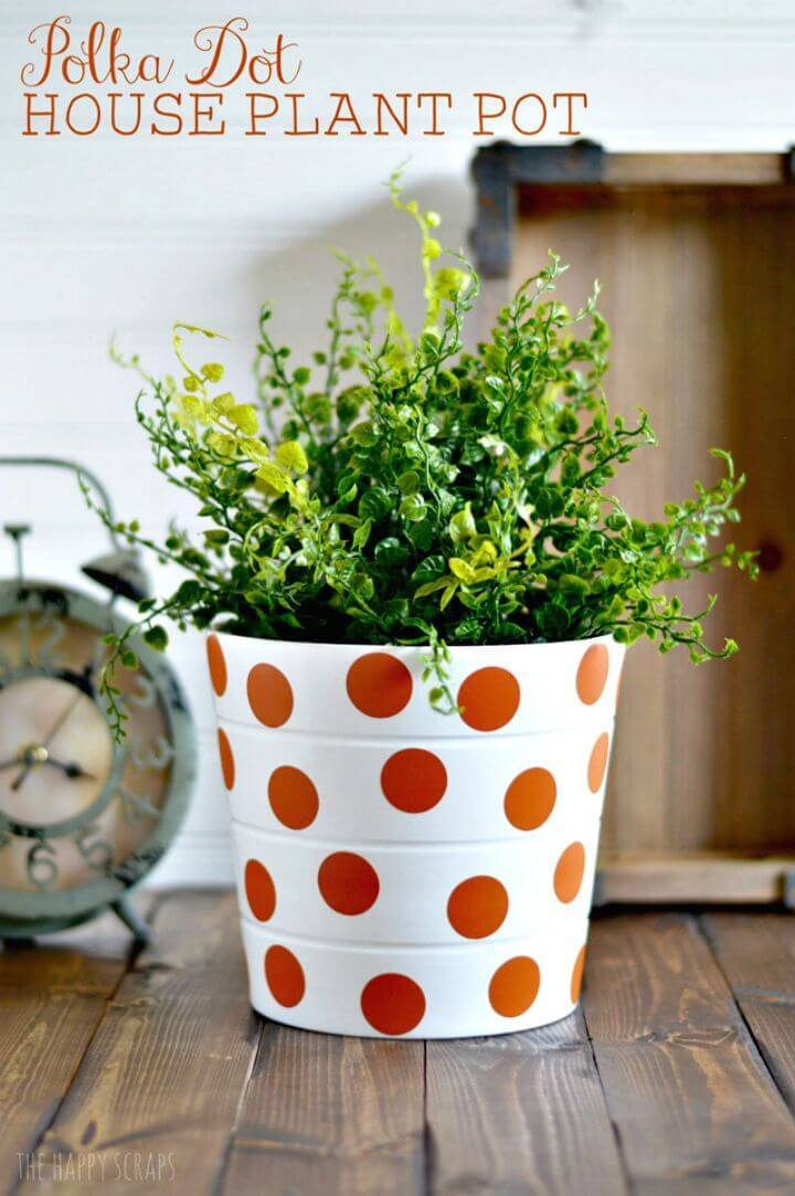 How to Make Polka Dot House Plant Pot